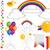 ballonnen · illustratie · verschillend · kleuren · liefde · cartoon - stockfoto © lenm