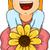 Sunflower Girl stock photo © lenm