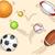 sportfelszerelés · golyók · illusztráció · háttér · művészet · asztal - stock fotó © lenm