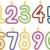 színes · születésnapi · gyertyák · vektor · szett · buli · boldog - stock fotó © lenm