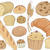 pan · diseno · elementos · ilustración · alimentos - foto stock © lenm