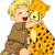 cheetah · illustratie · permanente · drogen · gras - stockfoto © lenm