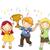 kid · jongen · kampioen · trofee · illustratie · vieren - stockfoto © lenm