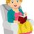 senior · lezing · illustratie · boek · vrouw - stockfoto © lenm