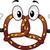 zoute · krakeling · mascotte · illustratie · brood · dessert · dieet - stockfoto © lenm