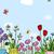 flores · borboletas · primavera · borboleta · projeto · fundo - foto stock © lenm