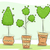 diferit · plante · copac · artă · verde · frunze - imagine de stoc © lenm