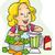 mezclador · nina · ilustración · nino · chef - foto stock © lenm