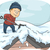 человека · снега · иллюстрация · льда · зима · мужчины - Сток-фото © lenm