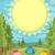 夏 · キャンプ · 実例 · サマーキャンプ · 旅行 · ポスター - ストックフォト © lenm