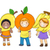 kids fruits costumes stock photo © lenm