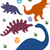 dinoszaurusz · sziluettek · háttér · illusztráció · dinoszauruszok · naplemente - stock fotó © lenm