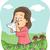 lány · tüsszentés · köhögés · bacilusok · illusztráció · gyermek - stock fotó © lenm