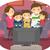 stickman family play video games stock photo © lenm
