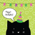 happy birthday card with cute cat character greeting card desi stock photo © leonart