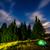 przestrzeni · noc · mleczny · sposób · góry · fantastyczny - zdjęcia stock © leonidtit