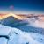 montanha · paisagem · fantástico · noite · inverno · colorido - foto stock © Leonidtit