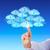 ujj · munkaerő · felhő · mutatóujj · fehérgalléros · munkás - stock fotó © leowolfert