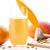 glas · mango · vers · gesneden · stukken · zaden - stockfoto © leowolfert