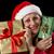 oude · vrouw · Rood · twee · christmas · geschenken · glimlachend - stockfoto © leowolfert