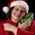 gelukkig · vrouw · cap · geschenk - stockfoto © leowolfert