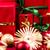 kırmızı · hediye · kutusu · yaylar · Yıldız · altın · ipek - stok fotoğraf © leowolfert