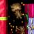 tres · rojo · Navidad · regalos · oro · cinta - foto stock © leowolfert