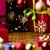 Rood · geschenkdoos · bogen · sterren · gouden · zijde - stockfoto © leowolfert