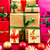 three heaps of christmas gifts sorted by color stock photo © leowolfert