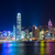 Hong · Kong · noite · escritório · árvore · edifício - foto stock © leungchopan