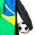 futballabda · Brazília · zászló · szürke · 3d · render · futball - stock fotó © leungchopan