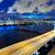 gece · şehir · merkezinde · şehir · ışık · deniz · ufuk · çizgisi - stok fotoğraf © leungchopan