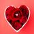 czerwona · róża · pierścionek · z · brylantem · wewnątrz · kształt · serca · puchar · czerwony - zdjęcia stock © leungchopan