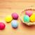 renkli · boyalı · easter · egg · sepet · Paskalya · mutlu - stok fotoğraf © leungchopan