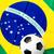 ファブリック · フラグ · ブラジル · サッカーボール · テクスチャ · サッカー - ストックフォト © leungchopan