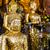 buda · estátua · dourado · retrato · fotografia · ouro - foto stock © leungchopan