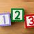123 · brinquedo · madeira · diversão · leitura · jogar - foto stock © leungchopan