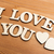vintage wooden letters forming with phrase i love you stock photo © leungchopan