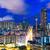 Hong · Kong · su · şehir · gece · ufuk · çizgisi - stok fotoğraf © leungchopan