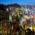 Hong · Kong · şehir · gece · gökyüzü · Bina · şehir · manzara - stok fotoğraf © leungchopan