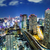 cityscape in tokyo at night stock photo © leungchopan