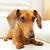 teckel · hond · sofa · witte · bruin · zoogdier - stockfoto © leungchopan