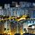 yerleşim · Hong · Kong · gece · ufuk · çizgisi · daire - stok fotoğraf © leungchopan