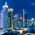 bangkok skyline at night stock photo © leungchopan
