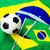 ブラジル · フラグ · サッカーボール · テクスチャ · スポーツ · 緑 - ストックフォト © leungchopan