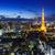 Токио · ночь · Панорама · Небоскребы · бизнеса - Сток-фото © leungchopan