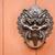 aslan · kapı · kilitlemek · ev · Bina · dizayn - stok fotoğraf © leungchopan