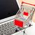 compras · on-line · laptop · compras · monitor · teia · compras - foto stock © leungchopan