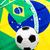 ブラジル · フラグ · サッカーボール · スポーツ · サッカー · 緑 - ストックフォト © leungchopan