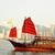 hong kong harbor with red sail boat stock photo © leungchopan